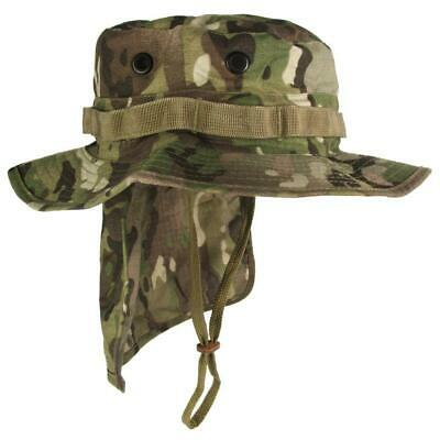 Multicam Camouflage Boonie Hat with Neck Flap