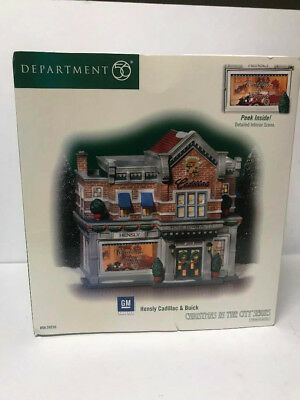 Dept 56 Christmas In The City Hensly Cadillac & Buick Nib
