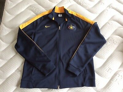 Nike Socceroos Mens Tracksuit Top Size Xl In As New Condition