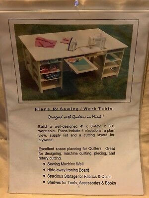 Sewing/Quilting/Work Table Building Plans New