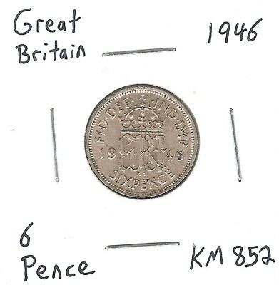 Great Britain 6 Pence 1946 KM852