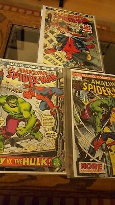 1973 MARVEL: The Amazing Spider-Man Lot #119, 120, 123 x FN/FN+