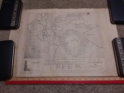 #8 Authentic US WWII 1106 Combat Engineer Group Map of Germany Dated 1945