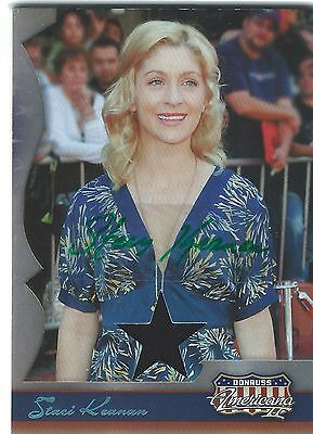 STACI KEANAN  2008 DONRUSS Americana #d AUTO Autograph Relic MY TWO DADS Actress