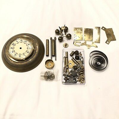 Vintage  Forestville Germany Anniversary Clock Parts Restore No Dome As Is PARTS