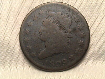 1809 Classic Head Large Cent. Key Date!