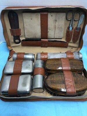 Vintage Mens Grooming Travel Set...LQQK!