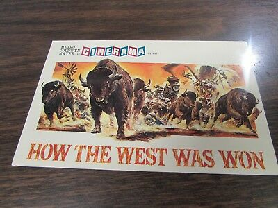 Metro Goldwyn Mater Cinerama - How The West Was Won   -  Post Card