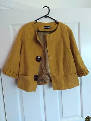 MARKS & SPENCER AUTOGRAPH DARK GOLD JACKET Retro / Vintage UK 16