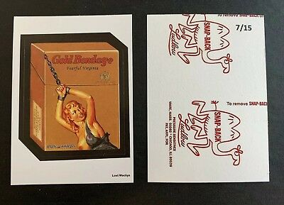 Lost Wacky Packages 4th Series RED LUDLOW Back GOLD BONDAGE X #7/15