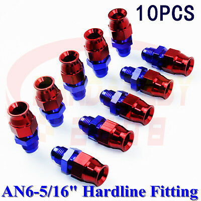 6AN Fuel Adapter Fitting To 3//8//5//16 Alloy Aluminum for GM,Quick Connect Male LS EFI,Black AN6-5//16