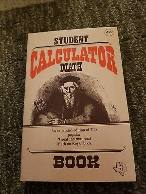 Student Calculator Math Book