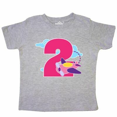 9a02f4451 Inktastic 2nd Birthday Airplane Girls Pilot 2 Year Old Toddler T-Shirt  Childs