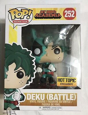 Funko Pop My Hero Academia (Battle) Deku #252 HOT TOPIC EXCLUSIVE *MINT*