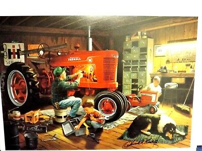 FARMALL TRACTOR ART by CHARLES FREITAG - FOREVER RED - SIGNED PRINT ONLY