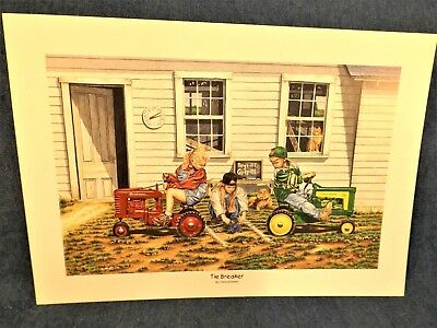 John Deere Pedal Tractor Print -Tie Breaker - Terry Downs - Small Print Only