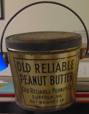 Old Reliable Peanut Butter Tin