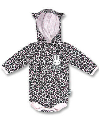 Baby Romper Rockabilly Leopard Print Animal Hood Gift Baby Shower Six Bunnies