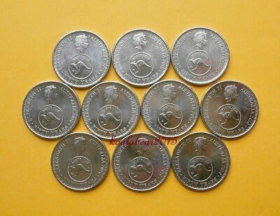 Australia 2016 5c Five Cent 50 Years Decimal Currency Changeover Coins x 10