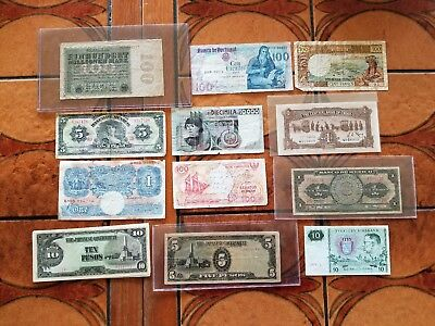 Foreign, World Currency Lot, Collection, Money, Bills