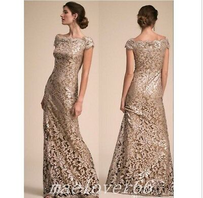 GOLD LACE MOTHER of the Bride Dresses Plus Size Formal Evening Party ...