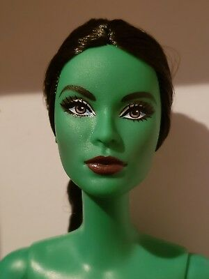 NUDE DOLL ONLY ***  Wicked Elphaba NUDE Barbie Doll