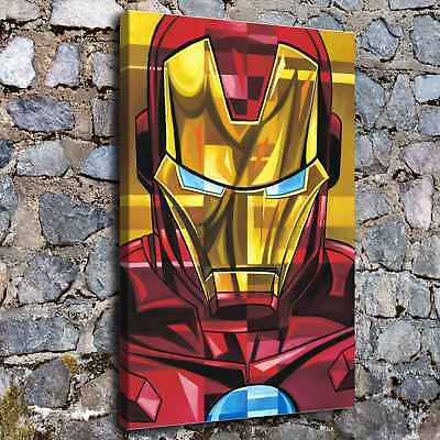 """12""""x18""""iron Man Poster HD Canvas print Painting Home Decor Picture Wall art"""