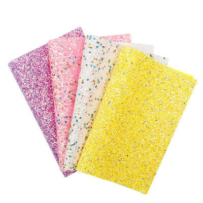 22*30cm Colorful Sequins Glitter Synthetic Leather Fabric Sheet DIY Materials