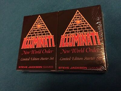 1994 Illuminati New World Order Card Game CCG INWO Starter Set Factory Sealed