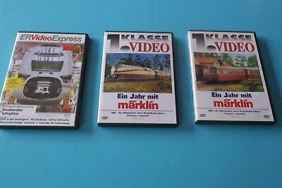 3 x DVD ER Video Express Moderne Bahnrtechnik & 1. Klasse Video 1 Jahr Märklin
