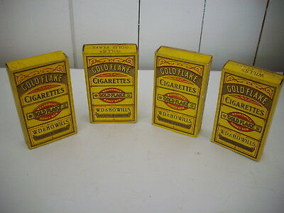 Wills - Gold Flake Cigarette Packets x 4 with Slides  Display not tobacco tin