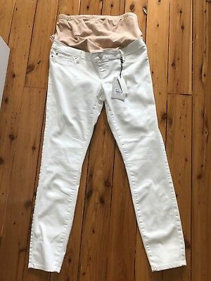 White Jeans West Maternity Jeans Size 10 BNWT