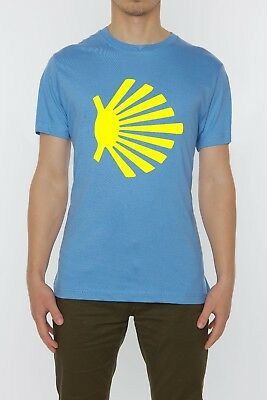 Camino De Santiago Scalob Shell Piligrim Symbol men's t shirt blue top quality
