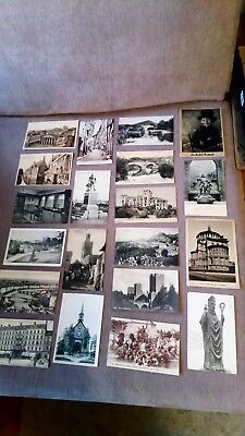Job lot of 30 old black and white postcards dating back to 1903