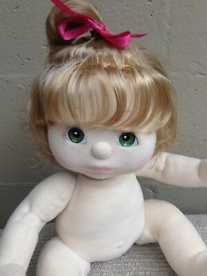 My Child Doll ~ US Ash Blonde Top Knot ~ Details/Pics Added!~ Nappy/Hair Ribbon