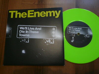 THE ENEMY We'll Live And Die In These Towns - Warner WEA437 - new! - Light Green