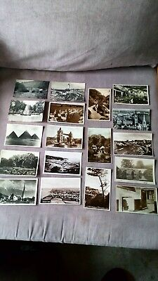 Job lot of 30 old black and white postcards