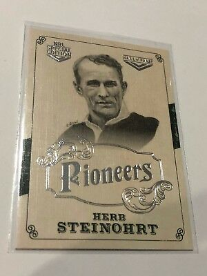 2018 NRL Glory Pioneers Insert Card - Herb Steinohrt - Hall Of Fame - PS 25