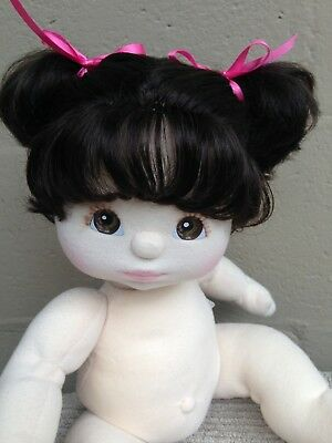 My Child Doll~US Brunette Piggy Tails~Details & Pics Added ~ Nappy/Hair Ribbons