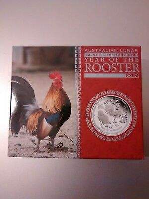 2017 50 cent Australian Lunar Series Year of the Rooster 1/2oz Silver Proof Coin