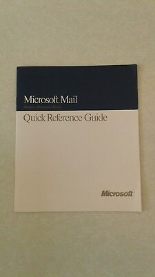 Computer Microsoft Mail Quick Reference Guide for Windows Workstation Version