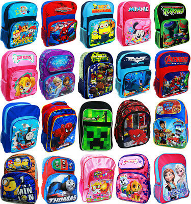 New Large School Bag Backpack Girls Boys Kids Moana Mickey Spiderman Ponny Gift