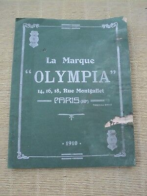 Catalogue Cycles Olympia 1910, Vélo Course, Bicyclette, Accessoires.