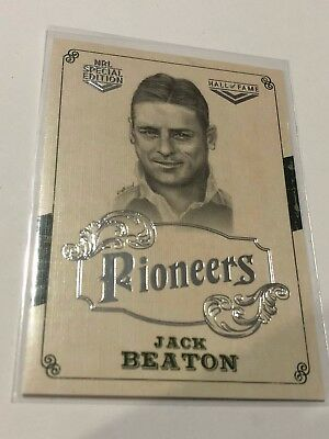 2018 NRL Glory Pioneers Insert Card - Jack Beaton - Hall Of Fame - PS 36