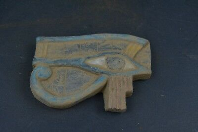"Ancient Egyptian Stone Eye of Horus Amulet Figurine 4.8"" from rare collection"