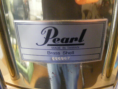 """Vintage Pearl Free Floating Snare 14"""" x 5"""" Messing Brass + Tasche+ Fell"""
