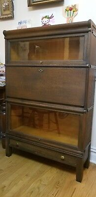Antique Globe Wernicke Barrister Lawyers Oak Bookcase