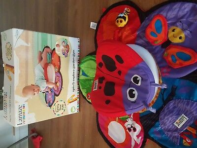 Lamaze Baby/Infant Tummy Time Spin & Explore Garden Gym W/ Play Activity Mat Toy