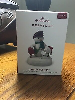 """2018 Hallmark Keepsake ORNAMENT   """"Special Delivery""""  Magic with Sound"""