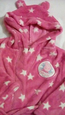 New Pink Peppa Pig dressing gown 18-24mth